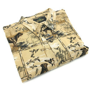 RedHead Duck Hunting Dog Button Down Shirt 2XL